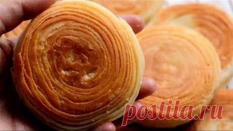 Cuma Pakai Teflon, Bikin Roti Berlapis-Lapis, Renyah Di Luar Lembut Di Dalam, Roti Pastry Tanpa Oven