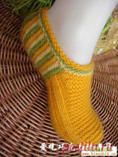 Тапочки спицами 32 модели вязаных тапочек, Вязание для женщин