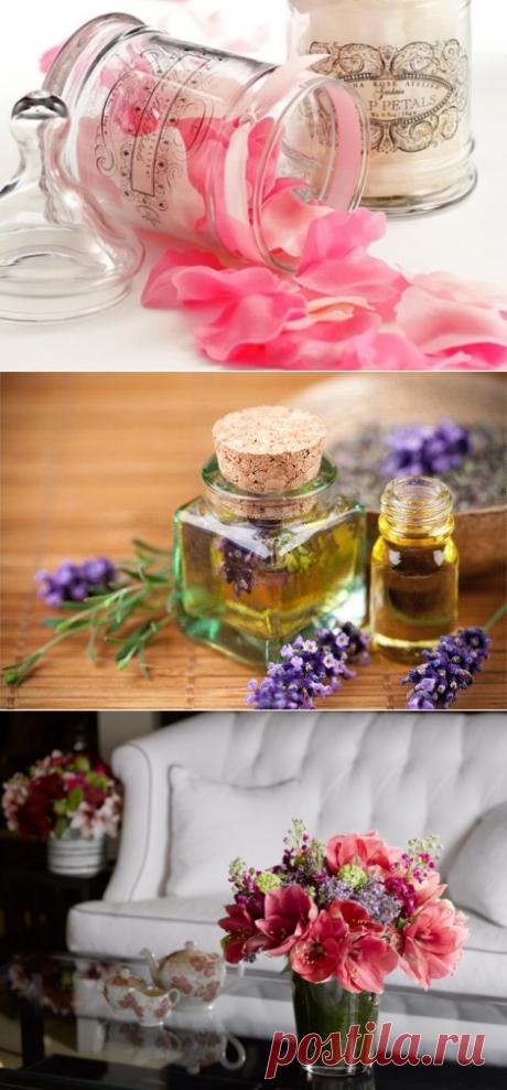 Как создать потрясающий цветочный запах в комнате? Простые и доступные рецепты! В темпі життя