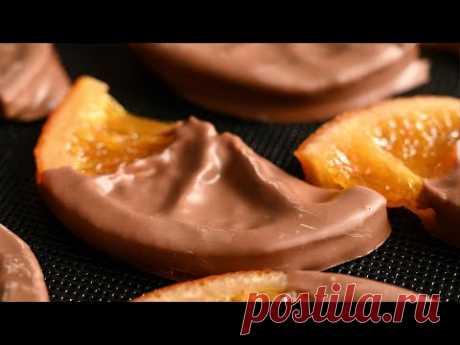 Не могу ни дня без этой сладости. Карамелизованный апельсин в темном шоколаде. Подробный рецепт!