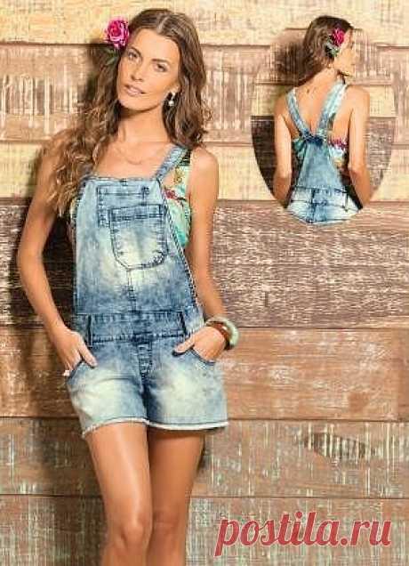 Выкройка летнего джинсового комбинезона (Шитье и крой)   Журнал Вдохновение Рукодельницы