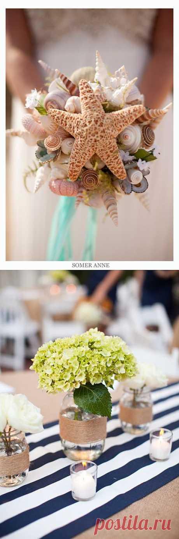 """Идеи для свадьбы в """"морском"""" стиле (подборка) / Свадебная мода / Модный сайт о стильной переделке одежды и интерьера"""