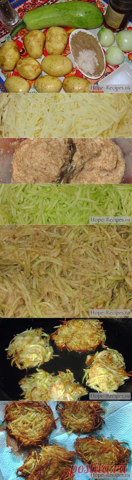 Драники из кабачков © Кулинарный блог #Рецепты Надежды