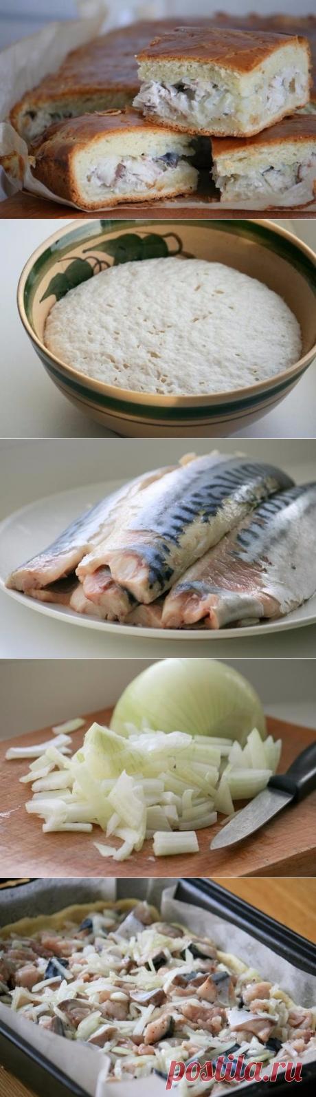 Как приготовить пирог со скумбрией - рецепт, ингридиенты и фотографии