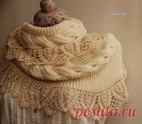 Стильный и женственный шарф – снуд Стефания (Вязание спицами и крючком) – Журнал Вдохновение Рукодельницы