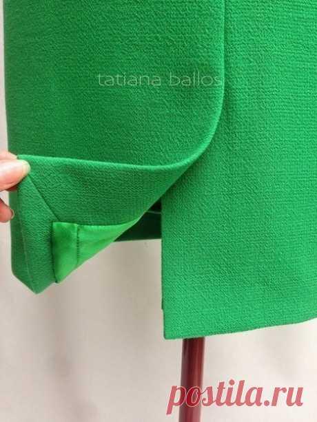 Обработка шлицы в изделиях на подкладке