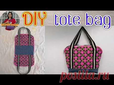 #DIY tote bag|diy sewing tutorial Ring handle bag|สอนทำกระเป๋าผ้า|กระเป๋าหิ้ว|รัชนี งานผ้า