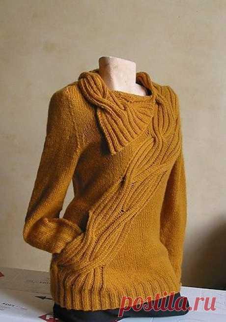 Пуловер цвета горчицы (Вязание спицами) Пуловер цвета горчицы//pagead2.googlesyndication.com/pagead/js/adsbygoogle.js (adsbygoogle = window.adsbygoogle    []).push({});