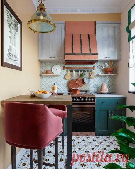 Яркие дизайнерские кухни до 6.5 кв.м. Красивые, а вот удобные ли? Оцените!