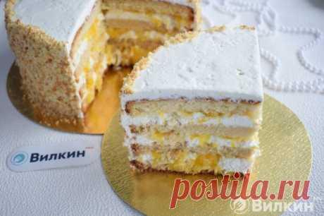 Апельсиновый торт из бисквитных коржей: рецепт с фото пошагово