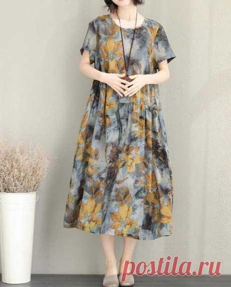 Summer dress maxi dress Loose dress Short sleeve dress   Etsy