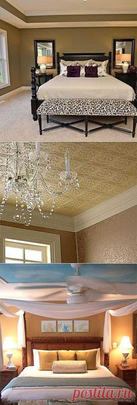 12 дизайнерских идей для потолка.