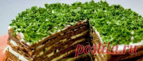 Вкусный и нарядный печеночный торт — Вкусные рецепты