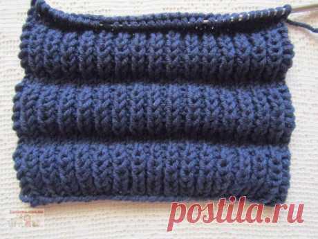 Шикарный объёмный узор спицами Предлагаю освоитьочень простой, красивый и объемный узордля вязания зимних вещей. Его можно использовать для вязания шарфов, снудов, свитеров, кардиганов, пальто, детских вещей и т.д.
