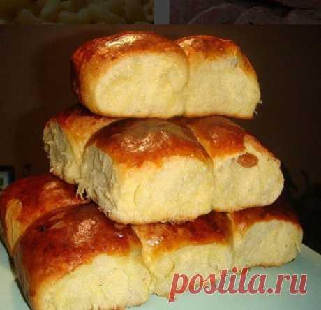 4 ст муки, 4 желтка, 1 ст молока и 2 пакетика ванили для самых вкусных в мире сдобных булочек за 9 копеек