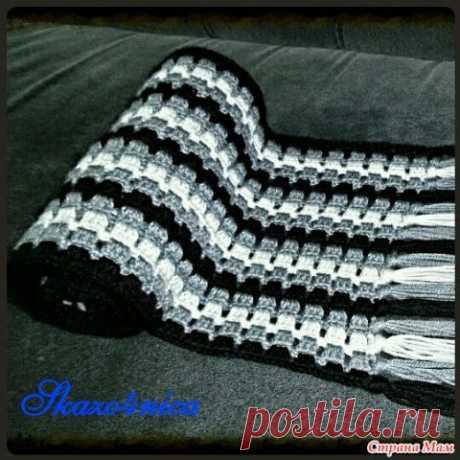 Мужской шарф крючком, 17 простых и сложных моделей с описанием