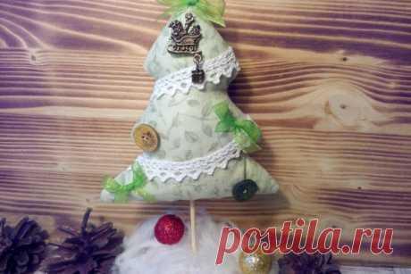 Мастер-класс по пошиву новогодней елочки из ткани на подставке | CityWomanCafe.com