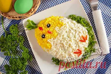 Пасхальный салат «Цыпленок»: рецепт с пошаговыми фото