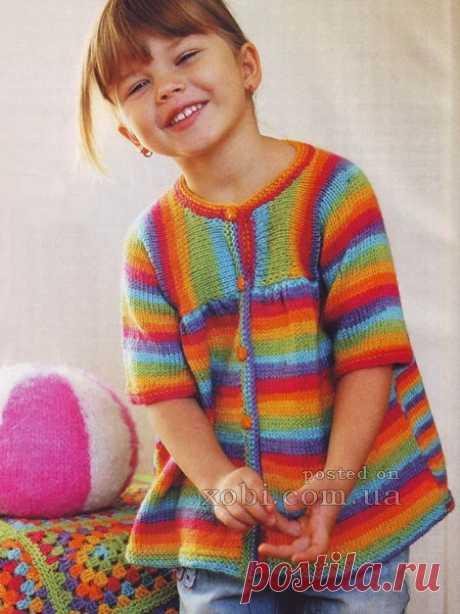 детский цветной жакет