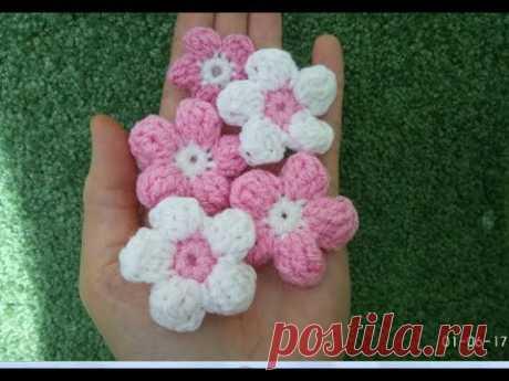 Цветок крючком/ Вязаные цветы/ Crochet flowers/ How to crochet flower