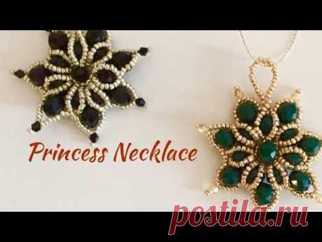 Princess Necklace Tutorial  Pendant  - Prenses Abiye Kolye Yapımı