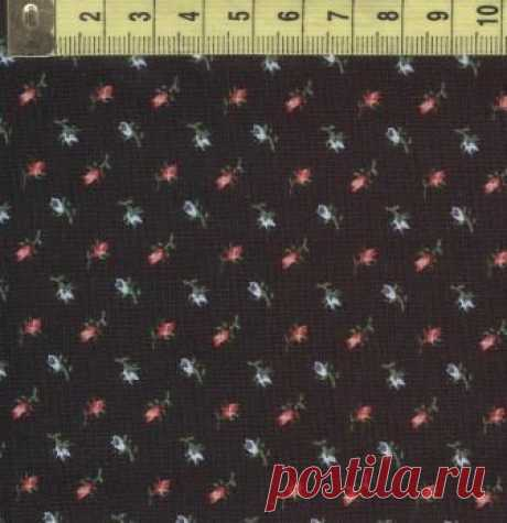 Каликос розочки на чёрном W32042-3
