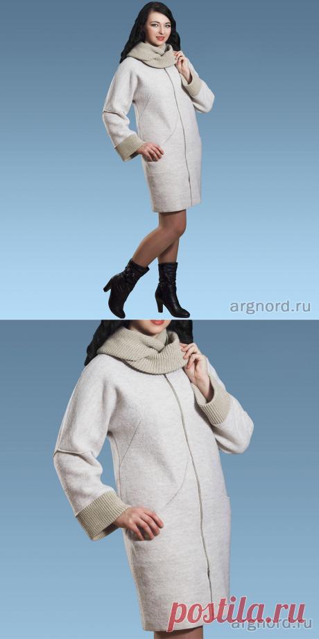 Пальто из валяной шерсти на молнии | Артикул: 867 | Верхняя одежда