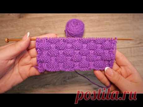 Рельефный узор спицами с эффектом клоке   Kloke knitting pattern