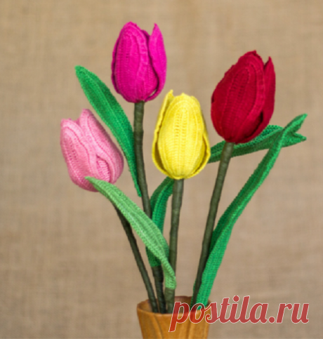 Kuklyandiya: Toys knitted hook. Flowers