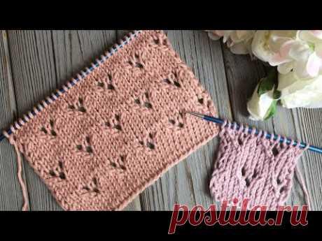 НЕЖНЫЙ, ПРОСТОЙ УЗОР СПИЦАМИ ! knittingpatterns