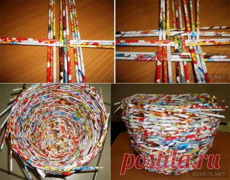 Плетение шкатулки в виде ягодки из журнальных трубочек