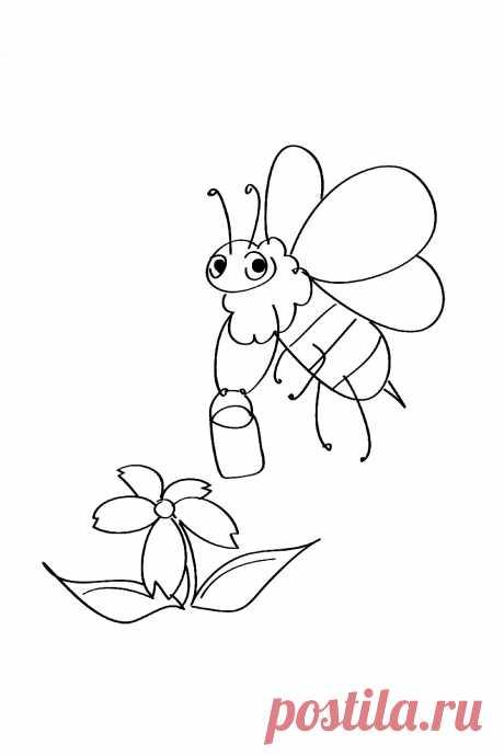 Пчёлка и цветочек