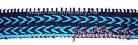 Вязание декоративной косички спицами
