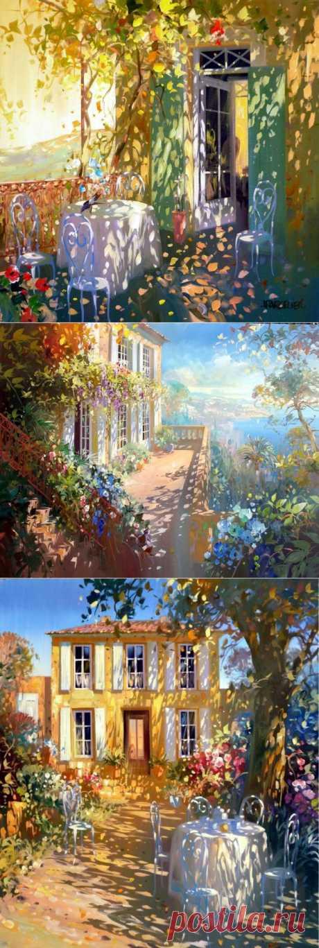 Картины, написанные солнечными зайчиками: Картины художника-импрессиониста Лорана Парселье