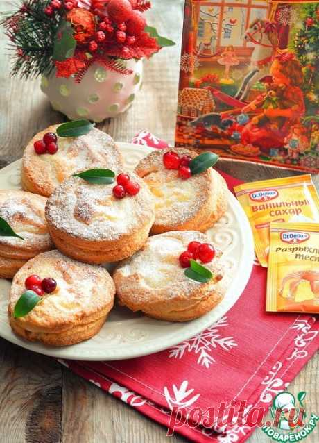 Творожное печенье с творожной начинкой - кулинарный рецепт