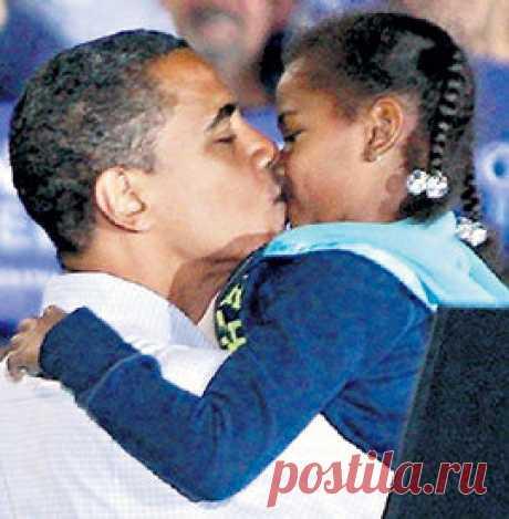 Барак Обама с Дочкой Сашей