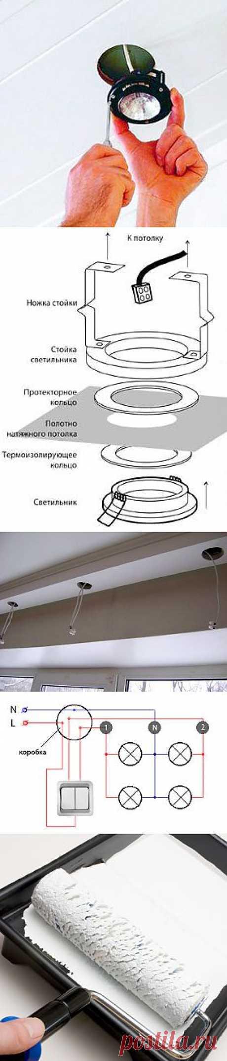 Монтаж точечных светильников в потолок своими руками