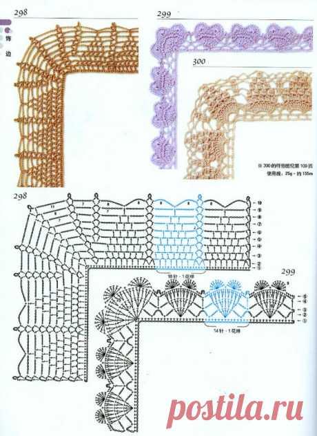Как обвязать крючком углы пледа. Примеры обвязки края пледа в технике С2С | С2С вязание | Яндекс Дзен