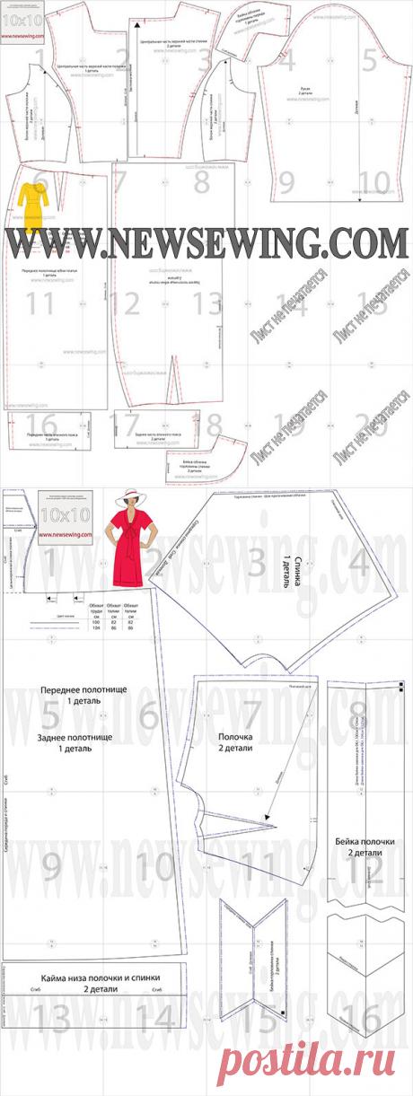 Две выкройки: платье в стиле ампир для полных (ог 100 и 104) и платье - футляр