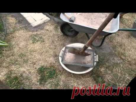 Садовая дорожка из кирпича на даче своими руками дедовским методом