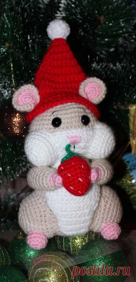 PDF Хомячок крючком. FREE crochet pattern; Аmigurumi animal patterns. Амигуруми схемы и описания на русском. Вязаные игрушки и поделки своими руками #amimore - хомяк, хомячок.
