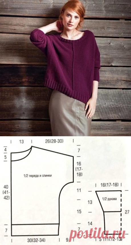 Стильный свитер со швами наружу - модель оверсайз - Портал рукоделия и моды