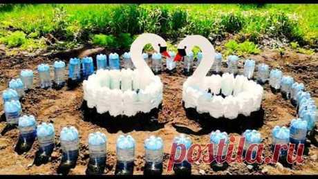 Идеи поделок для дачи из пластиковых бутылок