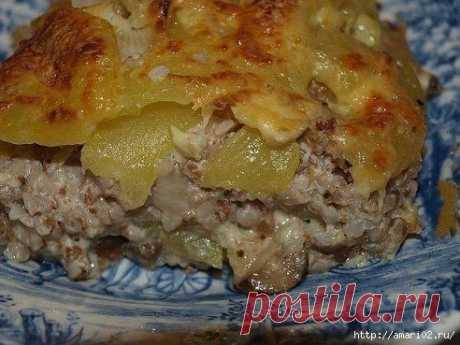 El tostado grechnevaya con hortalizas.