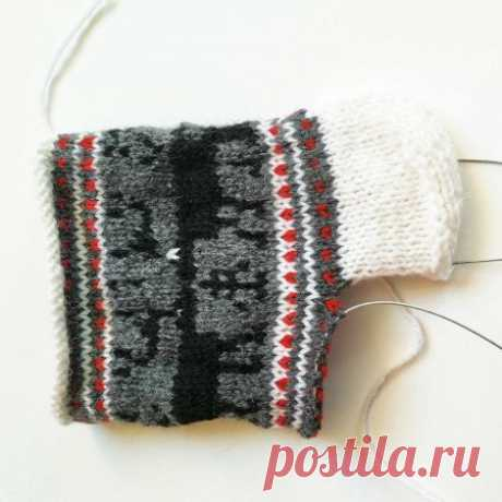 Носки спицами жаккардом » «Хомяк55» - всё о вязании спицами и крючком