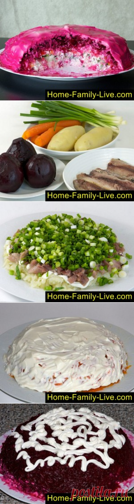 For those who likes to cook a herring under the fur coat\/website with step-by-step recipes with a photo