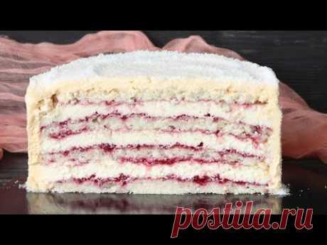 НЕЖНЕЙШИЙ КОКОСОВЫЙ ДАКУАЗ с МАЛИНОЙ 🥥Raspberry coconut cake recipe