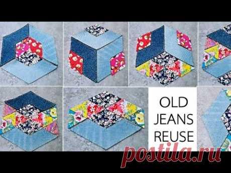 Джинсы могут быть использованы таким образом / более 10 различных стилей # Лоскутное одеяло