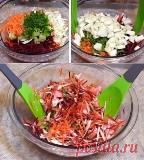 Салат «Щетка» для очищения кишечника и похудения за 2 дня без диеты