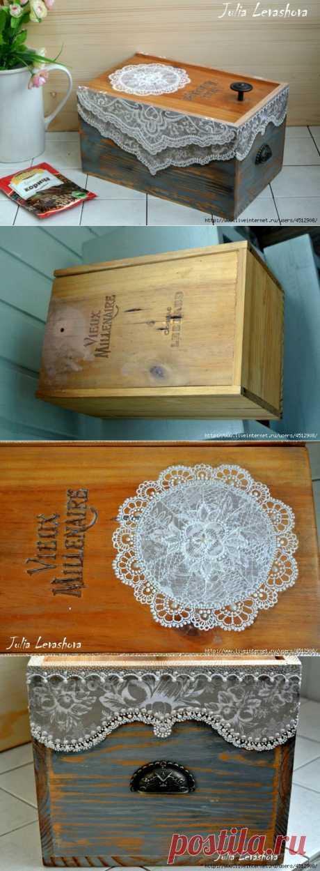 Ящик для специй (декупаж+точка) от Юленьки Левашовой.